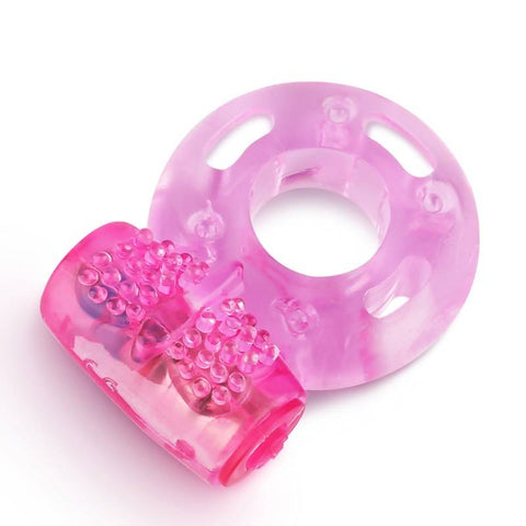 Clear Pink Vibrating Cockring