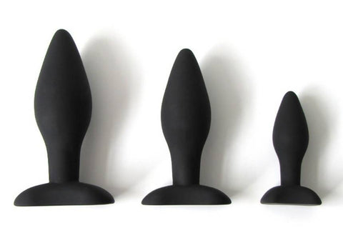 Taper Shaped Butt Plug in 3 Sizes