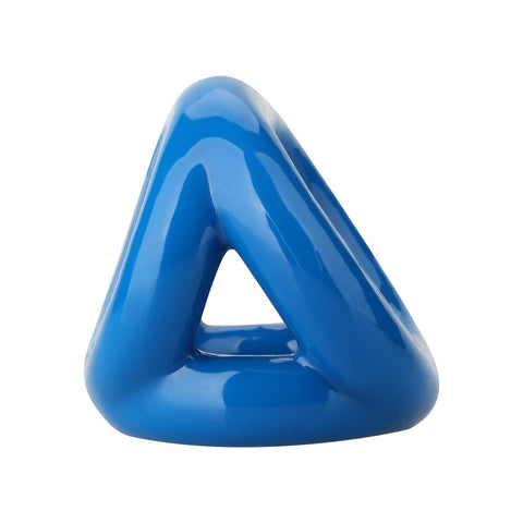 Blue Triangle Ball Stretch Cockring Being Fetish