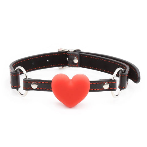 Leather Heart Ball Gag Nomads