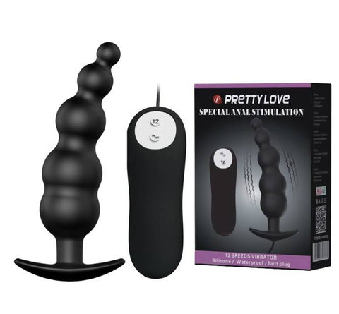 Vibrating Beads Butt Plug Baile