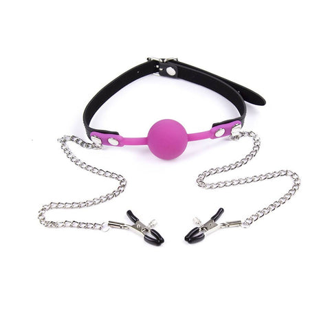 Ball Gag with Nipple Clamps Nomads