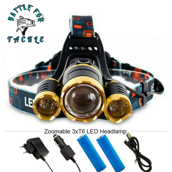 LED Headlamp (optional zoom) 13000 Lumens