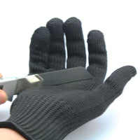 Cut Resistant Protective Fillet Knife Glove Thread Weave, M/L/XL Free Shipping