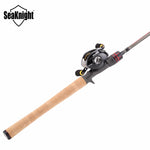 SeaKnight Rod Combo Lure Fishing Casting Rod LEC 2.1M/2.4M with Baitcasting Reel Max Drag 5KG11+1BB LYCAN Fishing Wheel