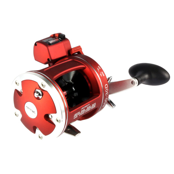 Full metal Red Right  Hand Bait Casting Fishing Reel with counter