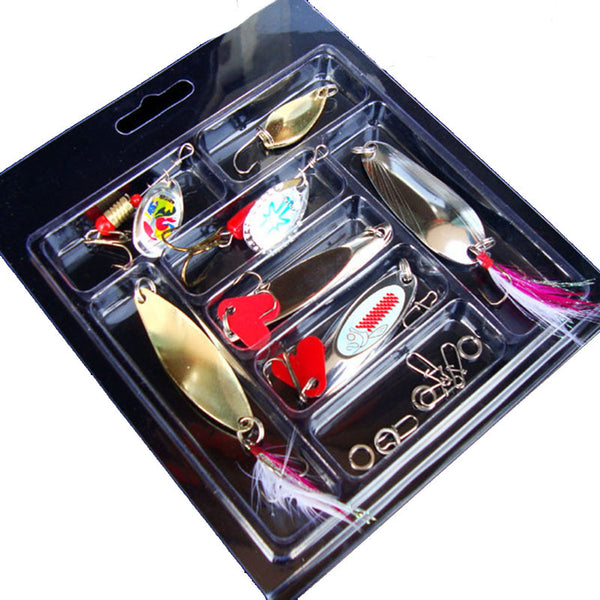 MUQGEW  Metal Fishing Lure Box Set