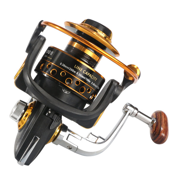 Metal Spinning Fishing Reel 13 Bearing Balls BQ1000-7000 Series Spinning Reel
