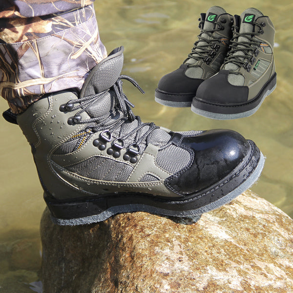 Winter Waterproof Fishing Boots Felt Sole Wader Shoes No-Slip