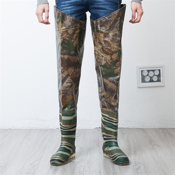 Camouflage Thigh High Fishing/Hunting Boots