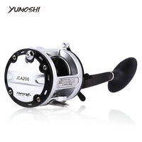 YUMOSHI 12+1 Ball Bearings Cast Drum Fishing Reel CNC Handle Design Aluminum Alloy Spool