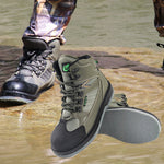 Quick Dry Men's Fly Fish Shoes for Waders w/ Felt Sole