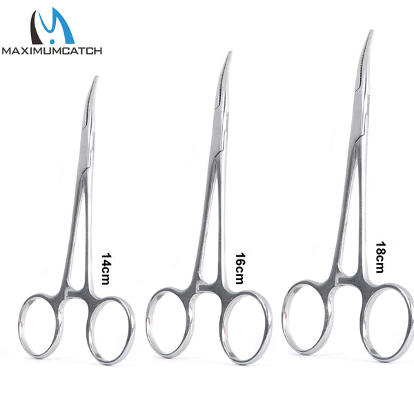 Maximumcatch 14cm 16cm 18cm Fishing Accessory Curved Hemostats Fly Fishing Forceps