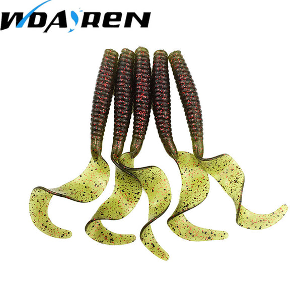 5Pcs/lot 8cm 4.27g Soft Bait Fishing Shad Soft Worm Salt smell Swimbaits Jig Head Soft Lure Bass Fishing Bait Fishing Lures