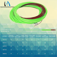 Maximumcatch Mainstream Sinking Tip 80FT 4-8WT 3IPS Brown/Lemon Green Color Weight Forward Floating Fly Line