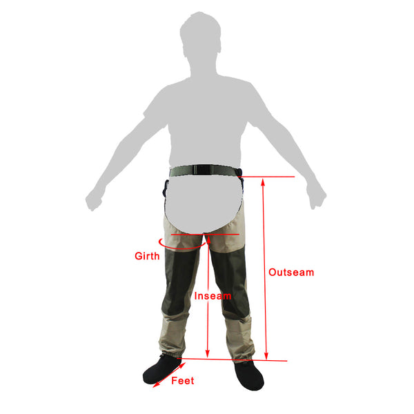 Fly  Fishing Waders Waterproof Leg pants Stocking foot Hip Wader Breathable Thigh waders