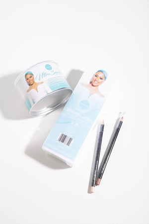Ultra Sensitive Cream Wax, Waxing Strips and 01 & 02 Highlighter Pencils