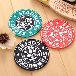 1PCS Three colors Silicone Dining Table Placemats Clastic Coasters Anti-skid Ceramic Mug Coaster Mermaid Coffee Coasters Cup