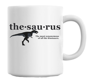 Thesaurus Slogan Mug