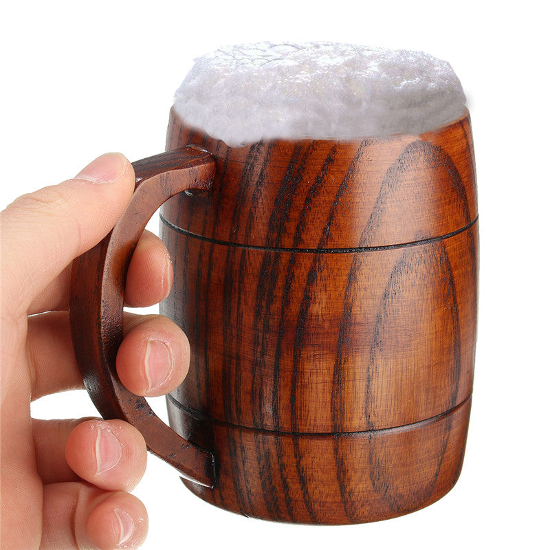 300ml Wood Barrel Mug
