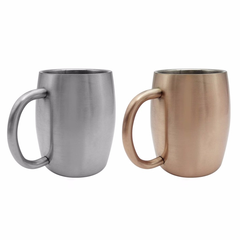 Double Layer Stainless Steel Mugs