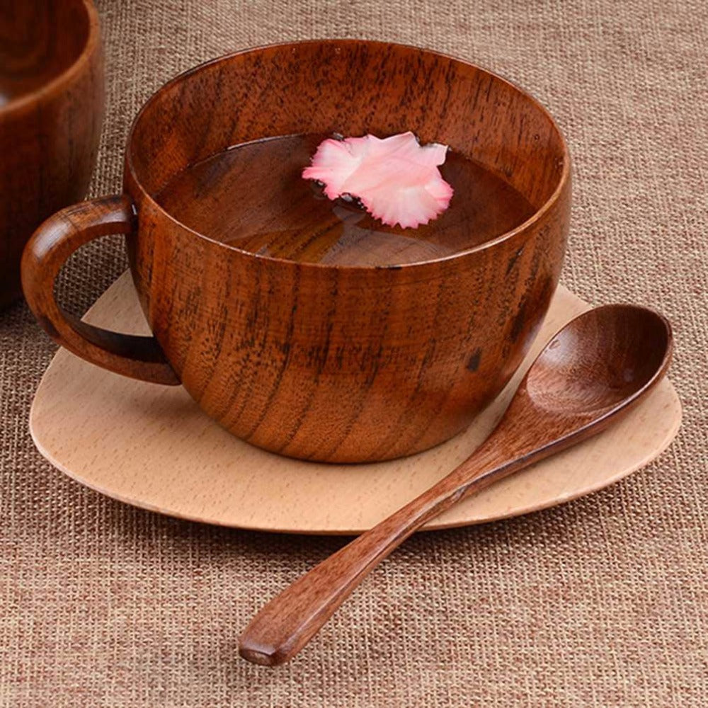 260ml / 8.8 oz Natural Jujube Bar Wooden Cup