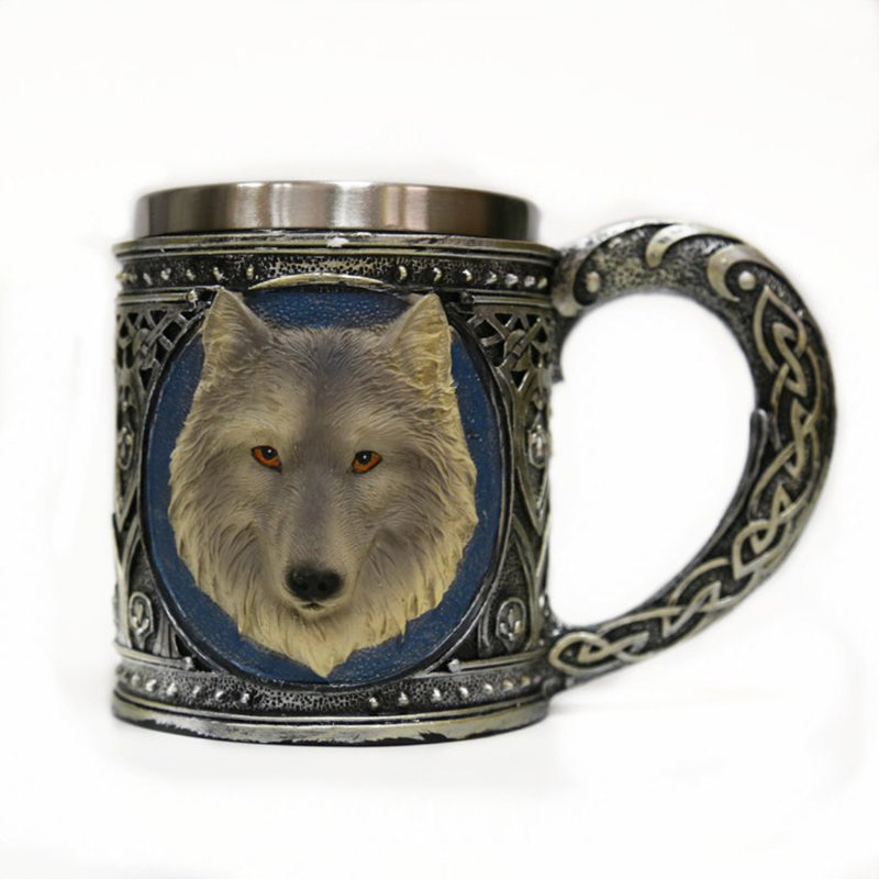 Stainless Steel Wolf Mug