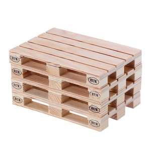 4 Piece Mini Wood Pallet Drink Coasters