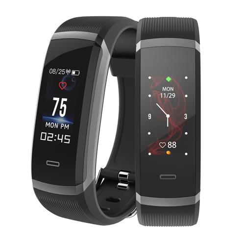 Makibes HR3 Smart Bracelet Continuous Heart Rate Monitor TFT Color Touchscreen IP67 Water Resistant Bluetooth Compatible With IOS Android - Black