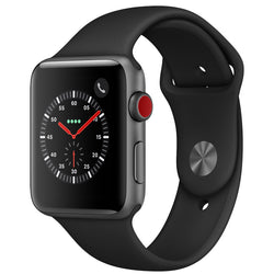 Apple Watch Series 3 GPS + Cellular with Black Sport Band