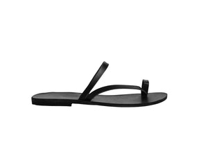 ALINA slides — black leather