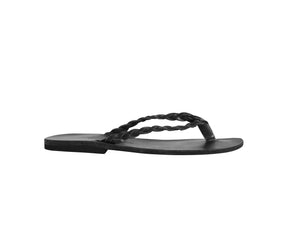 CLIO flip flop — black leather