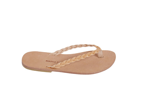 CLIO flip flop — natural leather