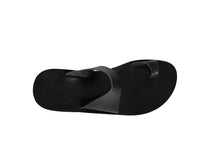 HADES slides — black leather