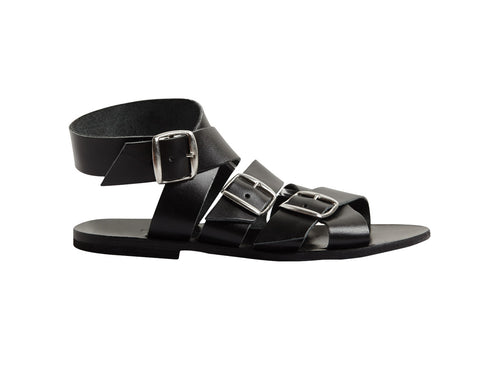 HERA sandal — black leather
