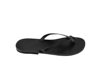 JENNA flip flop — black leather
