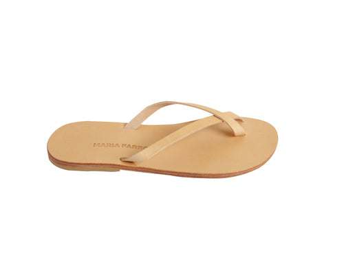 JENNA flip flop — tan leather
