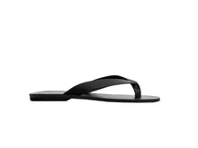 LEX flip flop — black leather