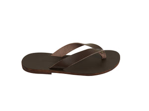 LEX flip flop — chocolate brown leather