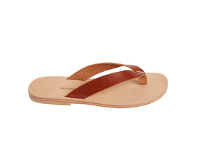 LEX flip flop — tampa brown leather