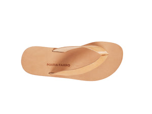 LEX flip flop — natural leather