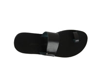 MAIA slides — black leather