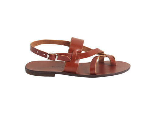 NYX sandal — brown meli leather