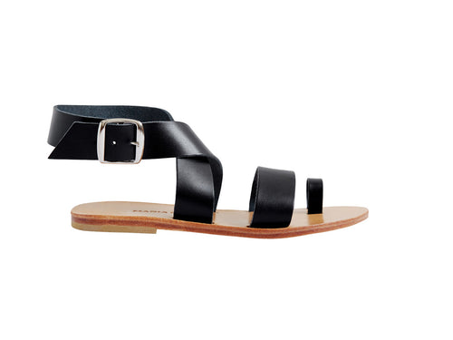 SARAH sandal — black leather