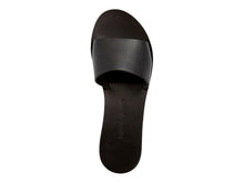TRINE slides — black leather