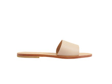 TRINE slides — nude leather