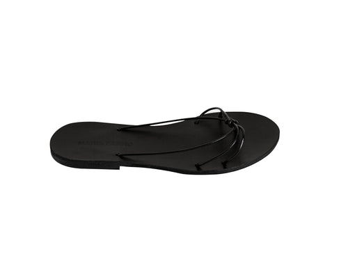 WINONA slide — black leather