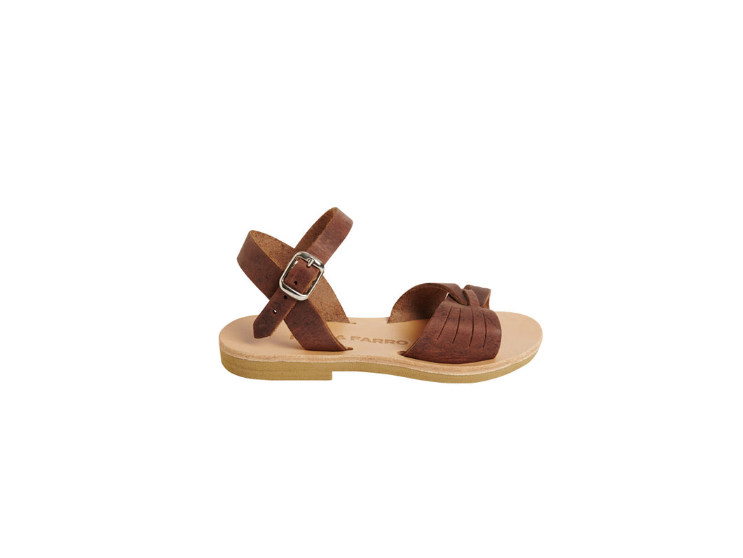JASMINE sandal — nombouk brown — MINI