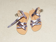 LOLA sandal — metallic lilac — MINI