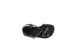 VENUS sandal — black leather — MINI